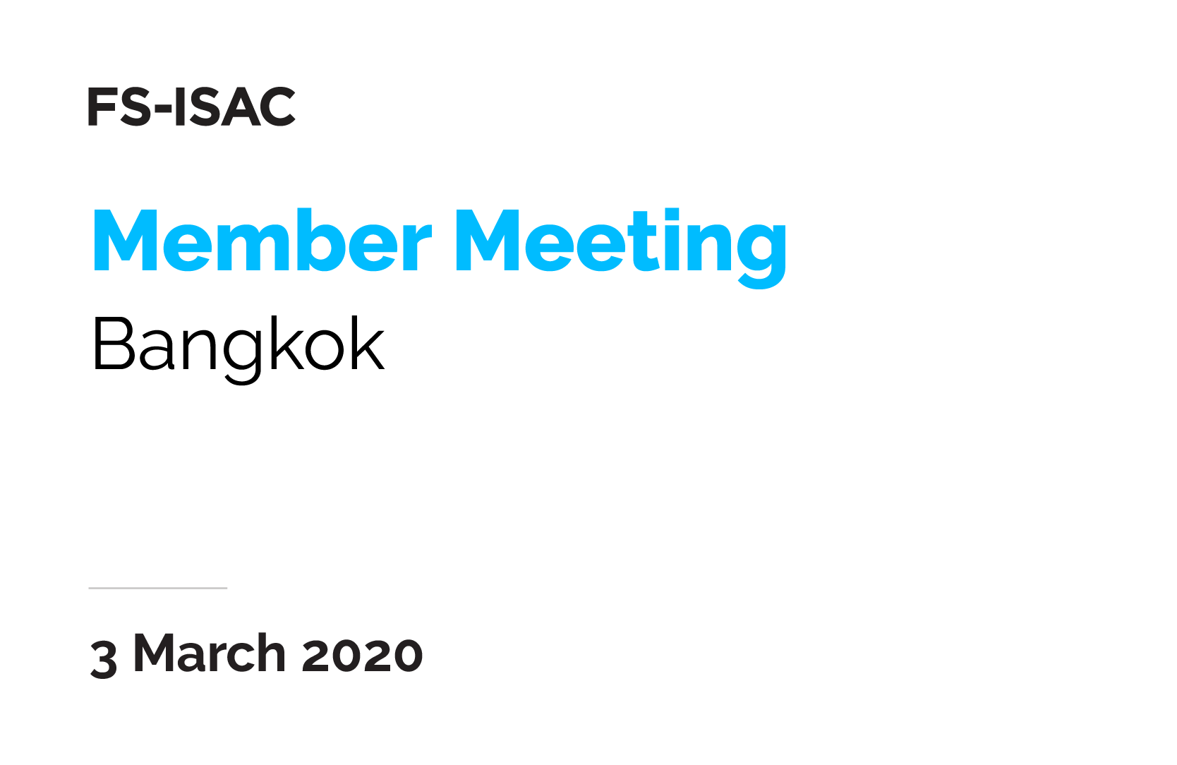 Bangkok Member Meeting