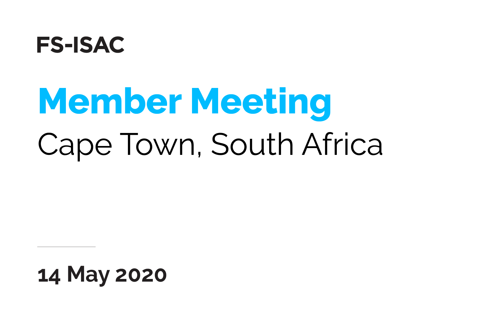 Cape Town Member Meeting