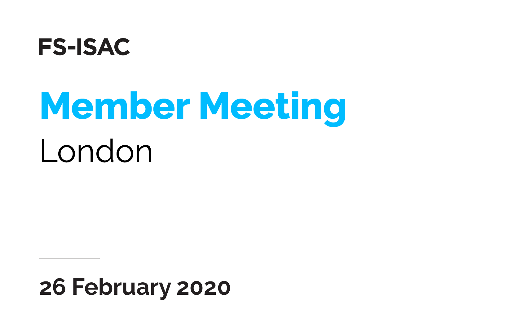 London Member Meeting