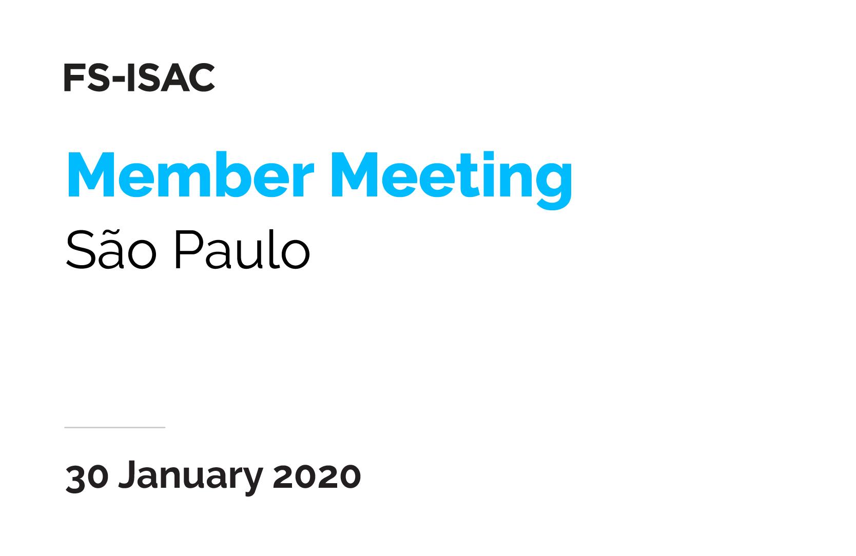 Sao Paulo Member Meeting