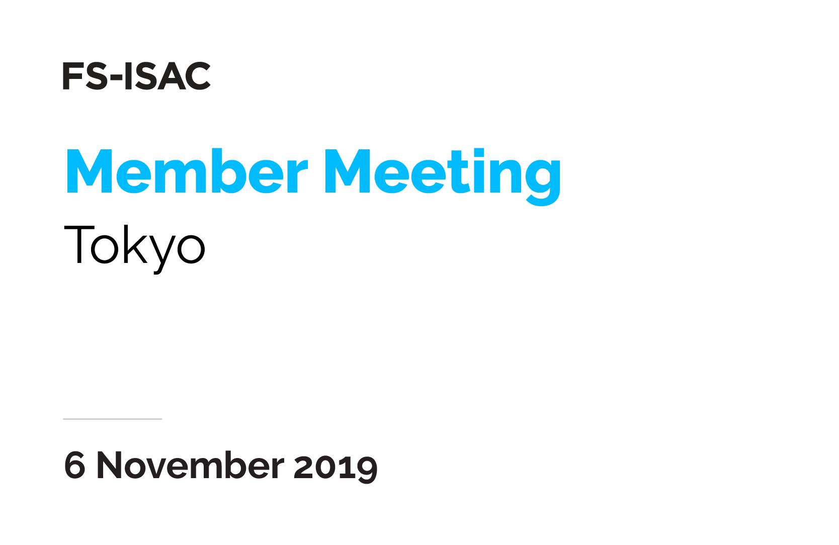 Tokyo Member Meeting