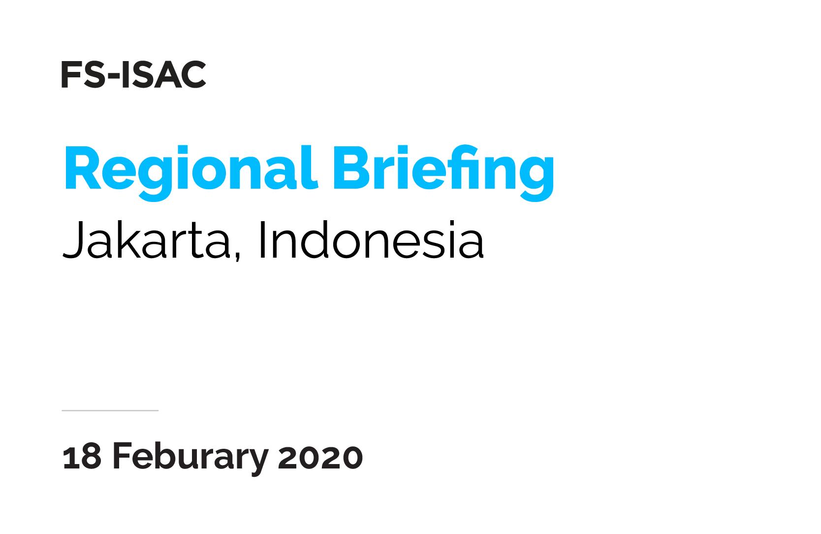 Jakarta Regional Briefing